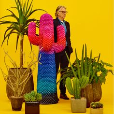 Fashion designer Paul Smith has created a new striped version of the cactus-shaped coat stand launched by Italian furniture brand Gufram in the 1970s