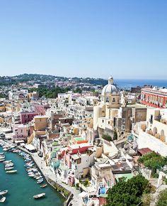 Procida Isle in Naples Gulf, Italy