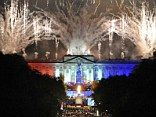 A fireworks display outside Buckingham Palace marks the end of the Jubilee concert