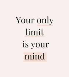 Our own thoughts, doubts and fears limit us and can keep us stagnant! Change the way you think, throw away your doubts and fears & Go after everything God has placed in your heart! Negative Thoughts, Positive Thoughts, Positive Vibes, Positive Quotes, Positive Affirmations, Positive Mindset, Quotes To Live By, Me Quotes, Motivational Quotes