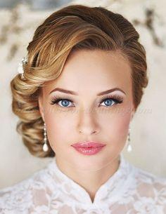 chignon wedding hairstyles, low bun wedding hairstyles - low side bun wedding hairstyle