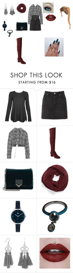 """Casual Outfit"" by helena94-1 on Polyvore featuring Kinross, Miss Selfridge, Off-White, Ivanka Trump, Jimmy Choo, Halogen, Orla Kiely, Swarovski and polyvorefashion"