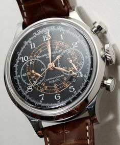 """ABlogToWatch: Baume & Mercier Capeland Watch Review---In the past, we've discussed the """"new"""" Baume & Mercier Capeland collection when they debuted in 2011, and then later in 2012 when new Capelands were released. We've mentioned a few obvious things. First, that the current Capeland bears little to no relation to the prior Capeland. Also, that the new Capeland collection is about emulating a look inspired by historic watches as it came out during the height of the vintage watch revival."""