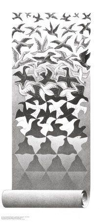 Patroon: Wanneer dezelfde vormen zich herhalen in een compositie ontstaat een patroon.