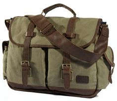 9c852f95c3 Premium Quality Canvas   Leather Messenger Bag with Thick Leather Handle