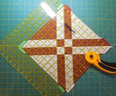 """I am working on a new quilt and have gotten to the """"squaring up"""" stage. This is a good block to demonstrate a few tips on. It wi..."""
