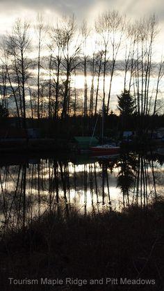 Sun set along Alouette River