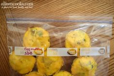 Don't skip breakfast! Make these freezer friendly scrambled eggs instead!