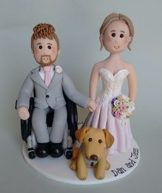 Image result for wheelchair groom cake toppers