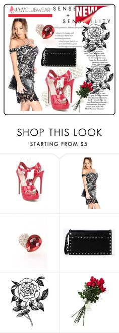 """""""AMICLUBWEAR #1"""" by nizaba-haskic ❤ liked on Polyvore featuring Valentino, Forever 21 and Hanky Panky"""