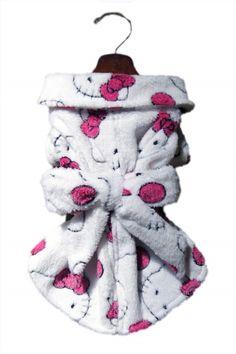 Hello Kitty Dog Bath Robe