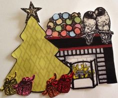 love birds handmade embellishment for crafting and scrapbooking