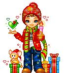 Christmas male dollz animated hearts