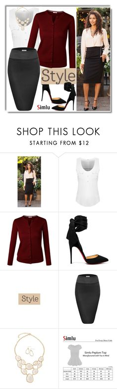 """""""Style is all- Simlu clothing"""" by simlu-clothing ❤ liked on Polyvore featuring Christian Louboutin and simlu"""