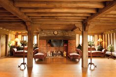 Warm and welcoming fires at Cain Manor