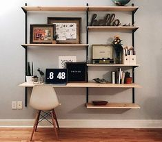 Decor, Home Office Decor, Interior, Home, Living Room Shelves, House Interior, Apartment Decor, Home Deco, New Room
