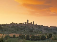 San Gimignano at Sunset, Siena Province, Tuscany, Italy, Europe Photographic Print by Sergio Pitamitz at Art.com
