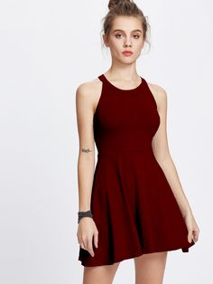 Shop Halter Neck A Line Dress online. SheIn offers Halter Neck A Line Dress & more to fit your fashionable needs.