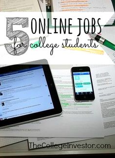 Working through college is important but can be hard to do with a busy schedule. To get you started here are five online jobs for college students.