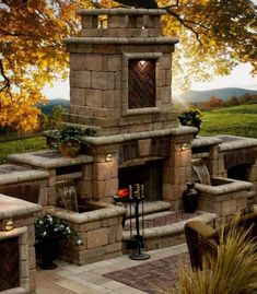 outdoor kitchen outdoor living space 25 low-cal desserts from Fitness Mag Outdoor Living Spaces outdoor color Outdoor Rooms, Outdoor Living, Outdoor Kitchens, Outdoor Decor, Boho Home, Outside Living, My Dream Home, Dream Big, Decks