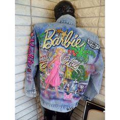Tony Alamo Rhinestone Denim Jean Jacket, Barbie in Beverly Hills (£670) ❤ liked on Polyvore featuring outerwear, jackets, jean jacket and denim jacket