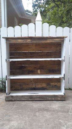 Bookcase made from pallets. $150.00, via Etsy.