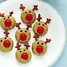 Peanut butter rudolf reighndeer cookies