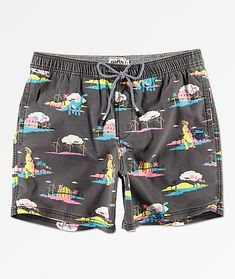 Design Colorful Pineapple Logo Pattern Shorts For Men Elastic Waist Pockets Lightweight Beach Shorts Boardshort
