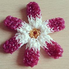 Clematis Flower Loom Band Charm