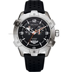 Men's Nautica NST100 Chrono Chronograph Watch (A32516G) - WATCH SHOP.com™