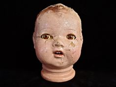 "Vintage 6.5"" Composition Doll Head."