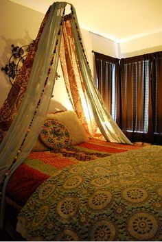 3bac634885 Lovely Boho Canopy Bed Canopy Diy