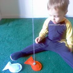 While He Was Napping: DIY No-Sew Kid's Fishing Set