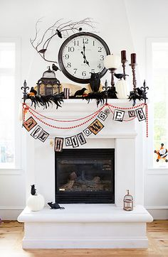 fab halloween mantle decor