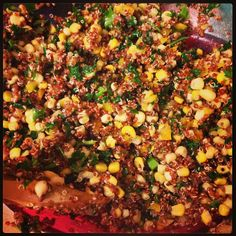 @The FRESH Expert: Corinne Martin - Quinoa kale and corn salad. #eatclean #wholelifechallenge #mealplanning