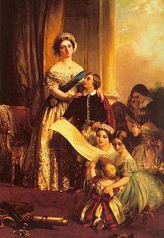 Queen Victoria And Her Children by John Callcott Horsley.