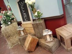 What a great way to make an entrance! The Laris wedding piled up vintage tomato crates and place gorgeous bouquets and lanterns on them. Color Palate, Silent Auction, Neutral Tones, Event Venues, Fundraising, Special Events, Crates, Bouquets, Lanterns
