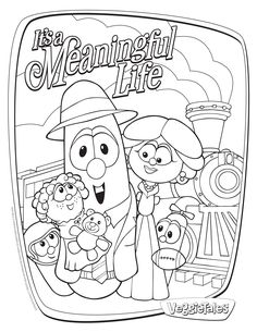 Veggie Tales Coloring Page | Larry Boy Birthday Party ...