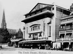 The old Tivoli movie theatre in King George Square, Brisbane. Brisbane Cbd, Brisbane Queensland, Aussie Australia, Brisbane Gold Coast, Local History, Old Photos, Vintage Photos, Heaven On Earth, Get A Life
