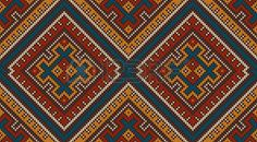 Knitted Wool Pattern in Tribal Aztec Style. Seamless Background photo