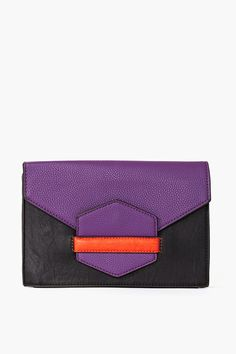 Color block clutch (this website has lots of other cute faux-leather bags too)
