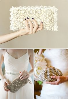 Bolsos de mano para novias #boda #complementos #bolsos