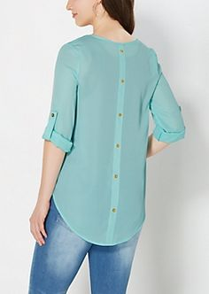 Light Blue Back Buttoned Popover