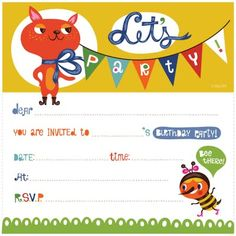 Birthday Invitation Kids Free Cards For
