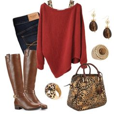 """Red Poncho 2"" by fashionista88 on Polyvore"