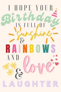 Happy Birthday Mom Quotes, Happy Birthday Greetings Friends, Happy Birthday Beautiful, Happy Birthday Girls, Happy Birthday Pictures, Happy Birthday Messages, 7th Birthday Wishes, Happy Birthday Illustration, Morning Announcements