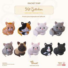 Então vamos ver como fazer um dos passos mais importante deles? Bordando os bigodes dos Gatos! Cat Crafts, Animal Crafts, Felt Patterns, Craft Patterns, Felt Finger Puppets, Felt Cat, Cat Doll, Felt Brooch, Cat Party