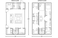 Floor plans for a shipping container home...