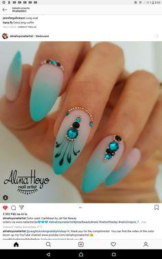 Matte Nails, Blue Nails, Stiletto Nails, Diy Nail Designs, Acrylic Nail Designs, Fabulous Nails, Perfect Nails, Gothic Nails, Nail Effects