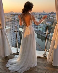 Best Of Greek Wedding Dresses For Glamorous Bride ★ greek wedding dresses a line with illusion long sleeves v back ideal moscow Greek Style Wedding Dress, Top Wedding Dress Designers, Grecian Wedding, Western Wedding Dresses, Modest Wedding Dresses, Boho Wedding Dress, Bridal Dresses, Bridesmaid Dresses, Mariage